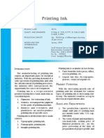 Printing Ink Project Profile