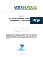 D5.1.7 Legal and Ethical Aspects of Experiments Including Policy Recommendations v1.0