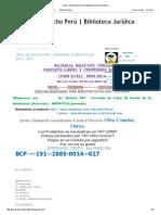 Libros de Derecho Perú _ Biblioteca Jurídica Virtual