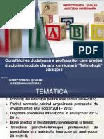 Consfatuire Judeteana Discipline Tehnice 2014