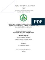 Control Interno Area Efectivo Empresa Comercial Republica Dominicana