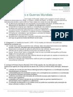 Listadeexercicio Historia Neocolonialismo Guerras Mundiais 06-08-2014