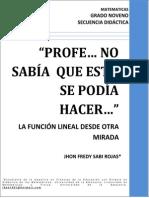 Secuencias Didacticas Jhon Frefuncion Lineal