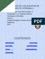 Seguridad de Los Equipos de Computo (Firewall)