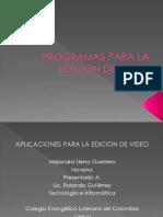Programas Para La Edicion de Video