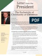 CIU President's Letter December 2009
