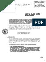 (PL) Ley Integral Contra la Violencia Hacia la Mujer y la Familia