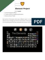 elementproject outline  rubric