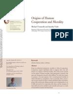 Origenes de La Cooperación Humana y La Moralidad