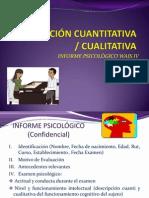 Ejemplo Informe WAIS IV. Descripcion Cuanti y Cuali