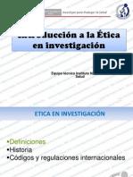 Etica en Investigacion Def Historia
