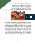 Verlorener Kampf – Greifen die sportrechtlichen Instrumente gegen Doping