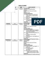 Weekly Planner English Kssr Year 1