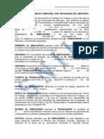 Contrato de Trabajo Temporal Por Necesidad de Mercado