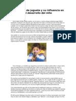 Las armas de juguete y su influencia en el desarrollo del niño
