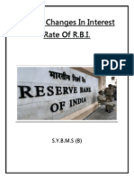 Recent Changes in Interest Rate of R.B.I.