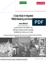 A Case Study in Integrated PMESII Modeling and Simulation