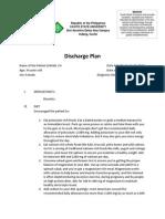 Discharge Plan. Case Pre