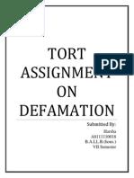 Tort Assignment