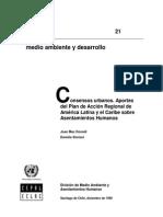 Aportes Del Plan de Acción Regional Sobre Asentamientos Humanos 1999