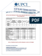 CARRERAS UNIVERSITARIAS - UPCI