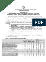 EDITAL VAGAS OCIOSAS 2014.2 e 2015.1 Transferencia- Reingresso e Revinculacao