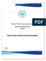 Functional Specification Document