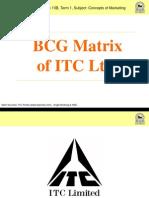 36556965 Bcg Matrix of Itc Ltd
