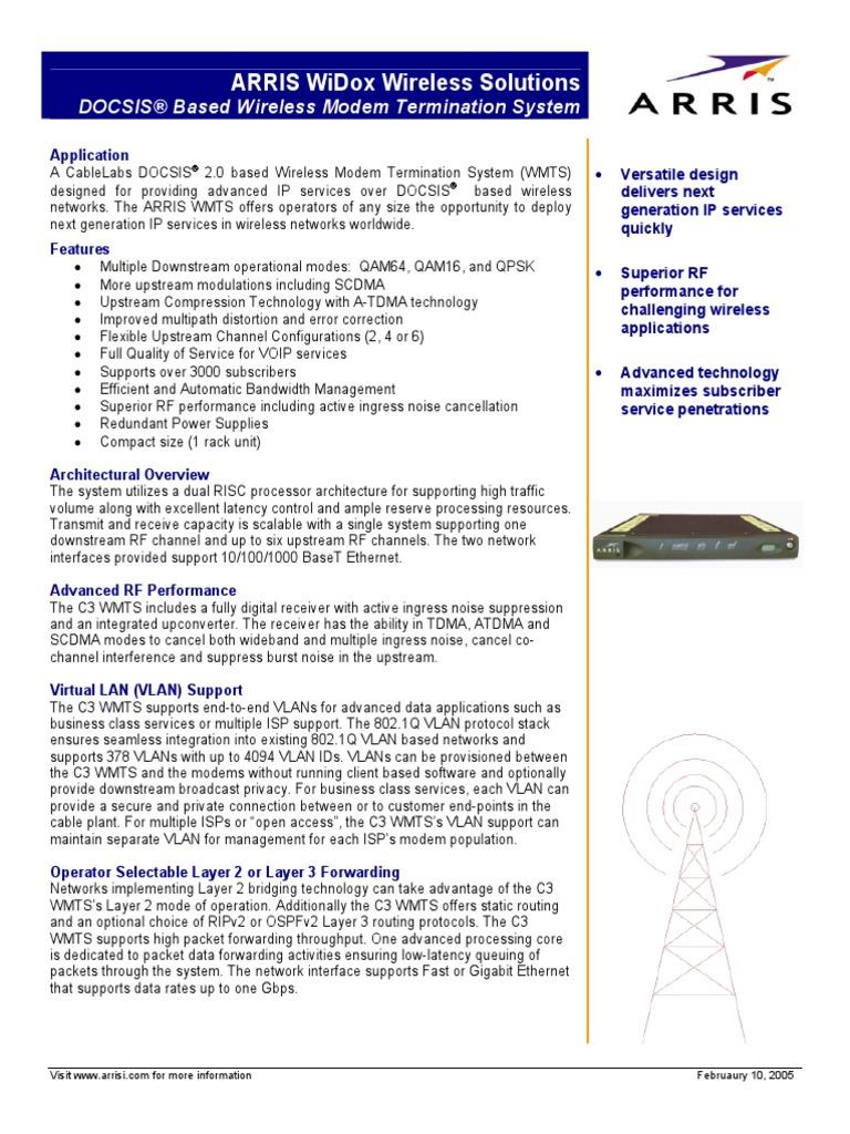 ARRIS docsis   Internet Service Provider   Computer Network