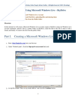 Instruction for Using Microsoft Windows Live - SkyDrive