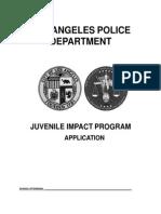 Juvenile Impact Program Application (English)