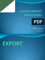 import and export  procedure