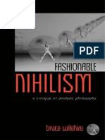 Fashionable Nihilism a Critique
