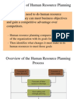 The Process of Human Resource Planning