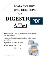 Digestion Questions Ib TEST
