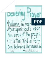 Believing Prayer is an Extremely Powerful Thing