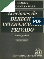 197824872 Lecciones de Derecho Internacional Privado Parte General Biocca Cardenas Basz