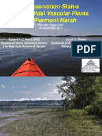 •	Conservation Status of Intertidal Vascular Plants of Piermont Marsh, Rob Naczi (New York Botanical Garden) and David Werier (Botanical and Ecological Consultant)