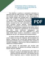 Análise e Comentário ao Relatório da IGE