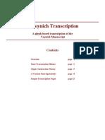 A Voynich.transcription. .a.glyph Based.transcription.of.the.voynich.manuscript