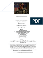 Judge Dredd – Research Task