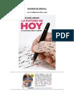 """Dossier de Prensa Libro """"Tu futuro es HOY"""" de Francisco Alcaide y Laura Chica"""