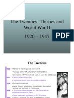 The 20s, 30s, and World War II
