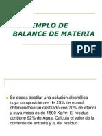 Ejemplo de Balance de Materiaprocesosquimicos