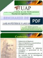 Las Hipotesis y Variables