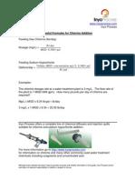 Formulas for Chlorine Addition