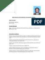 CV de Alejandro Vanoli