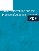 Wp Math Intervention and the Promise of Adaptive Learning