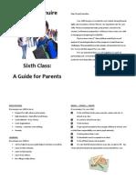 sixth class parent booklet online version