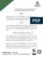 PLAN DE TRABAJO FUNDAMENTADO EN EL PLAN ESTRATÉGICO Y EL SISTEMA DE CALIDAD DE ASCUN-DEPORTES NODO CARIBE.doc